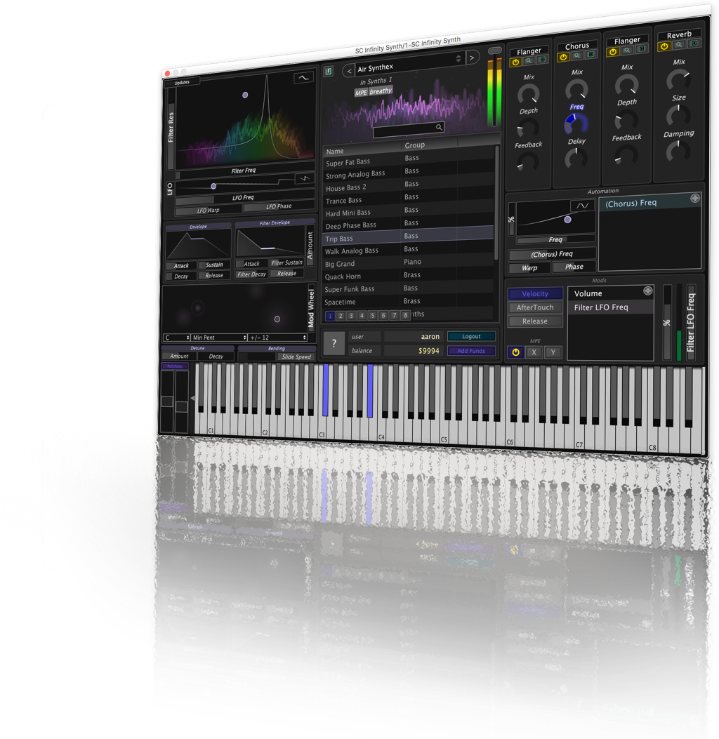 Infinity Synth - Stagecraft Software